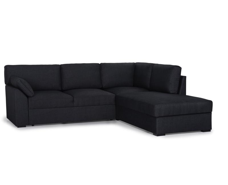 KAJA kampinė sofa-lova dešinė neištiesta miegama sofa lova lyros baldai lyra group skandinavisko stiliaus baldai kede stalas pufas fotelis