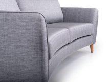 ROUND 3-vietė sofa/sofa lova lyros baldai lyra group skandinavisko stiliaus skandinaviskas stilius kede stalas pufas fotelis interjeras dizainas