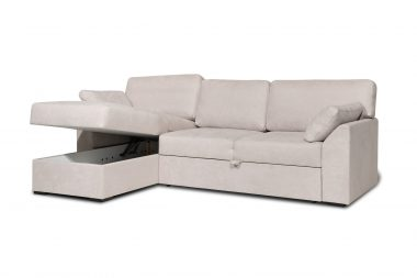 IRVING maža kampinė sofa-lova